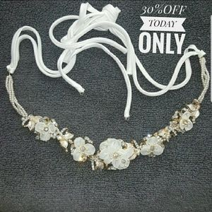 Accessories - Bridal headpiece headband white & gold